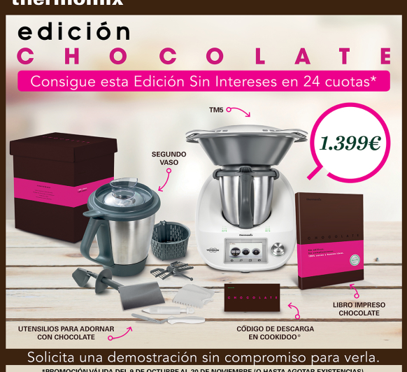 Thermomix® + chocolate al 0%