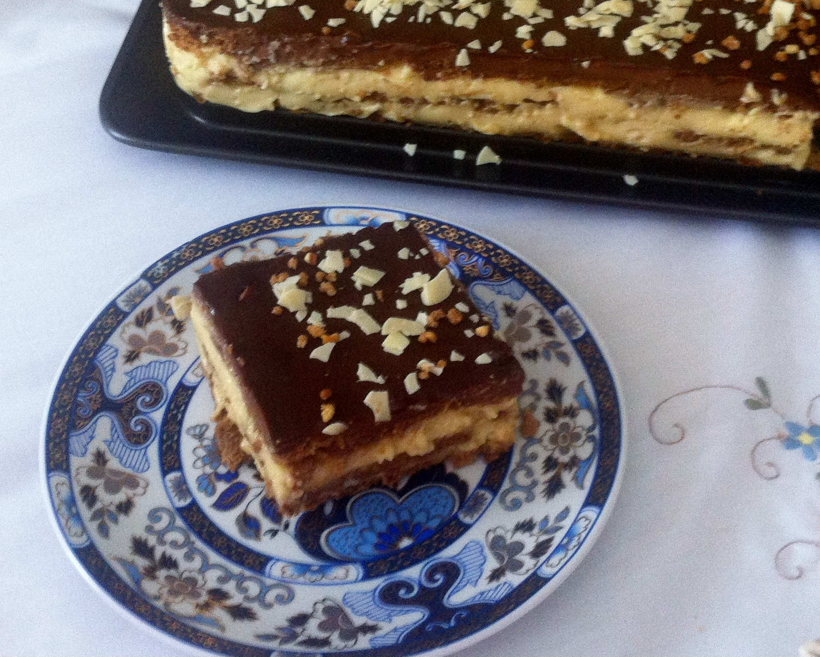 Tarta Tradicional de Galletas, Natillas y Chocolate con la Nueva Tecnología Thermomix® TM 5
