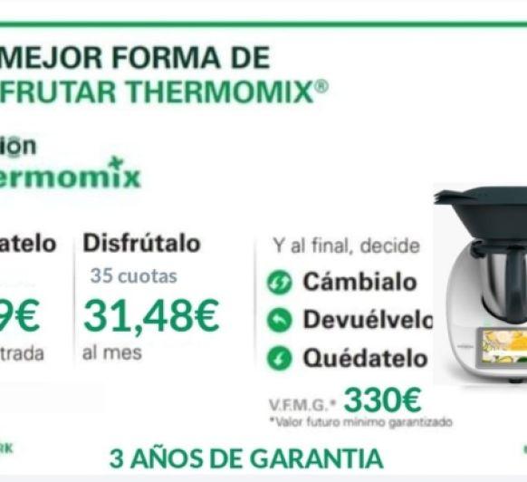 Tu Thermomix® Tm6 por solo 1€ al día