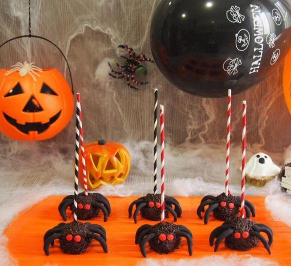 Arañas de Hallowen