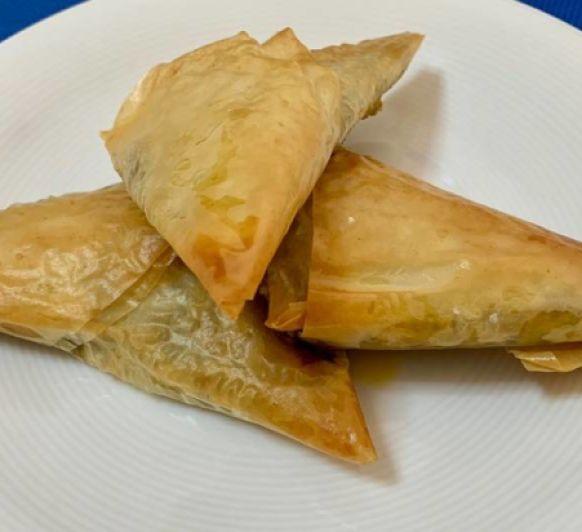 Triángulos de verduras al curry