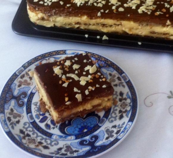 Tarta Tradicional de Galletas, Natillas y Chocolate con la Nueva Tecnología Thermomix® TM 5