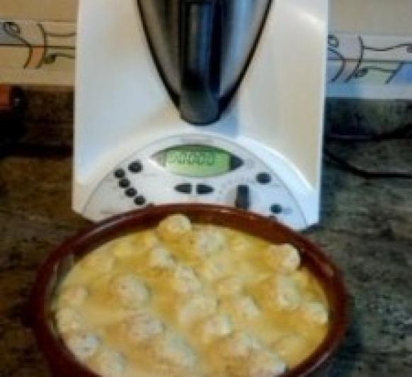 Albóndigas de Pollo con Salsa de Almendras con la Thermomix®